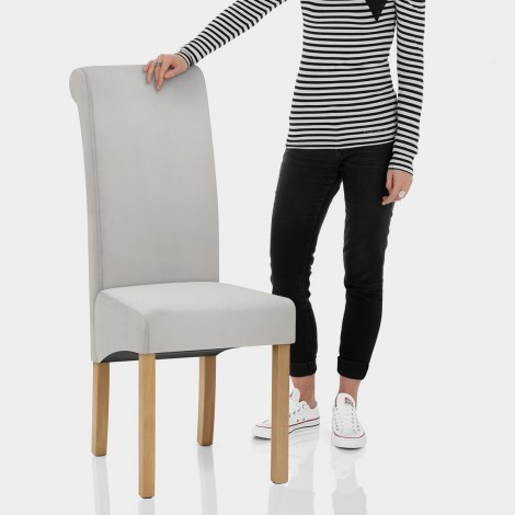 Carolina Dining Chair Grey Velvet Features Image