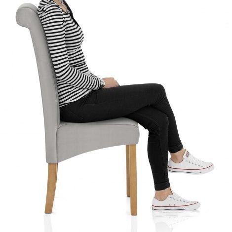 Carolina Dining Chair Grey Velvet Seat Image