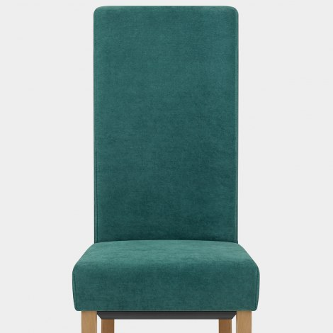 Carolina Dining Chair Teal Fabric Seat Image