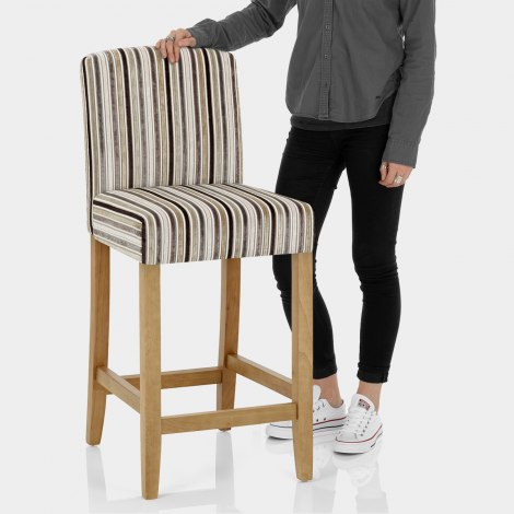 Carter Oak Bar Stool Stripe Fabric Features Image