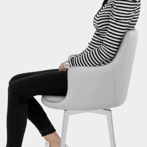 Casa Bar Stool Light Grey Seat Image