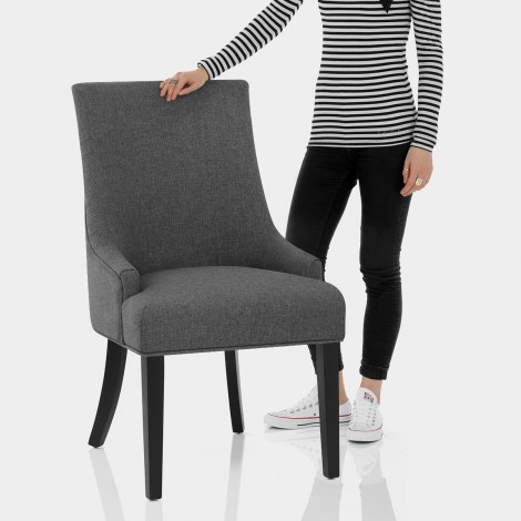 Cavendish Dining Chair Charcoal Fabric Features Image
