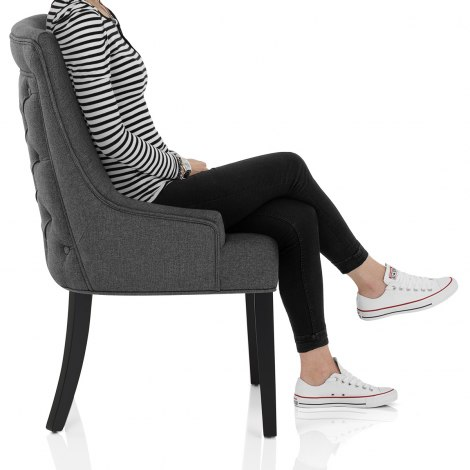 Cavendish Dining Chair Charcoal Fabric Seat Image