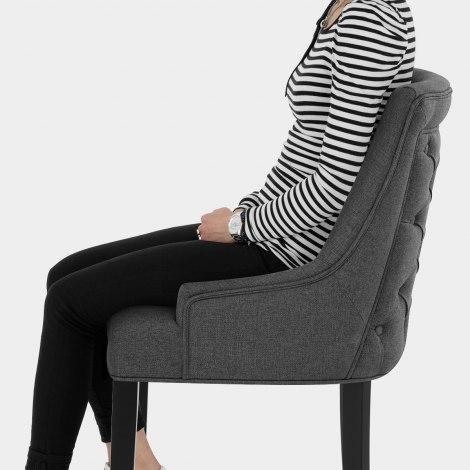 Cavendish Bar Stool Charcoal Fabric Seat Image