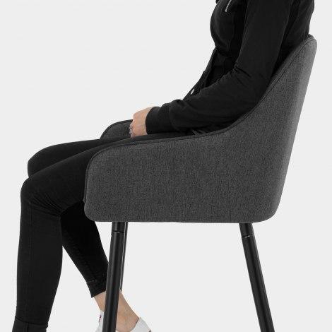 Cello Bar Stool Charcoal Fabric Seat Image