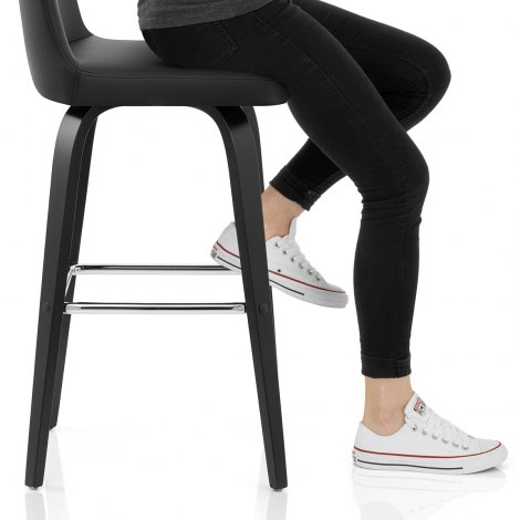 Charlotte Kitchen Stool Black Seat Image