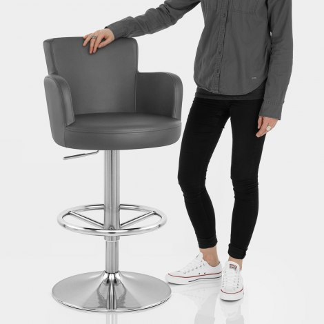 Chateau Brushed Bar Stool Grey Features Image