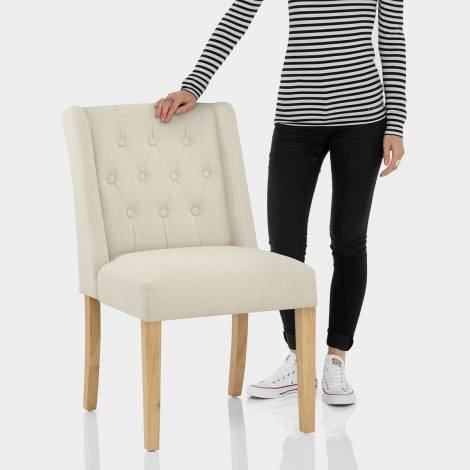 Chatsworth Oak Dining Chair Cream Features Image