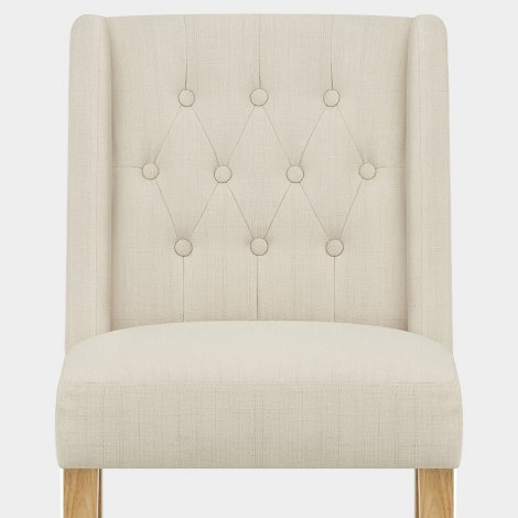 Chatsworth Oak Dining Chair Cream Seat Image