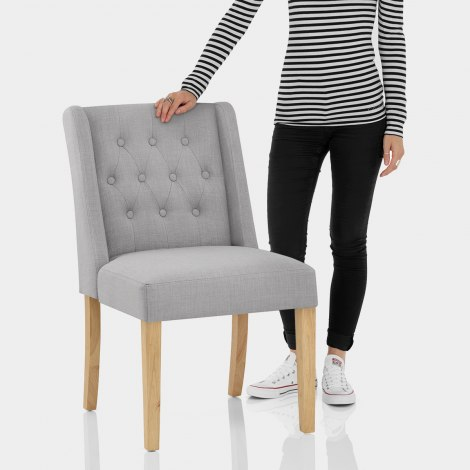 Chatsworth Oak Dining Chair Grey Features Image