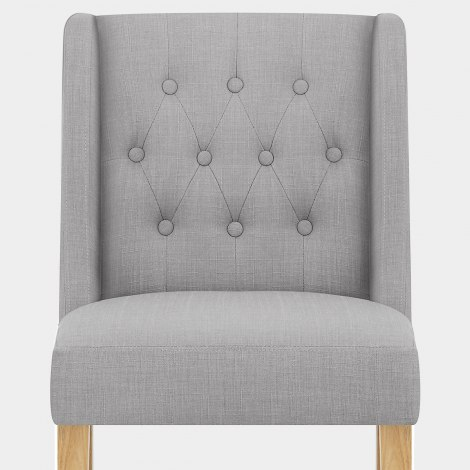 Chatsworth Oak Dining Chair Grey Seat Image