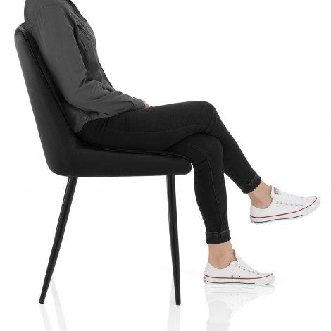 Chevy Dining Chair Black Velvet Frame Image