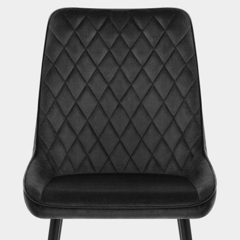 Chevy Dining Chair Black Velvet Seat Image