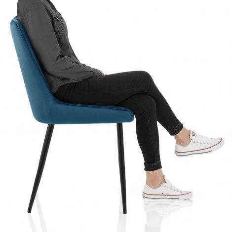 Chevy Dining Chair Blue Velvet Frame Image