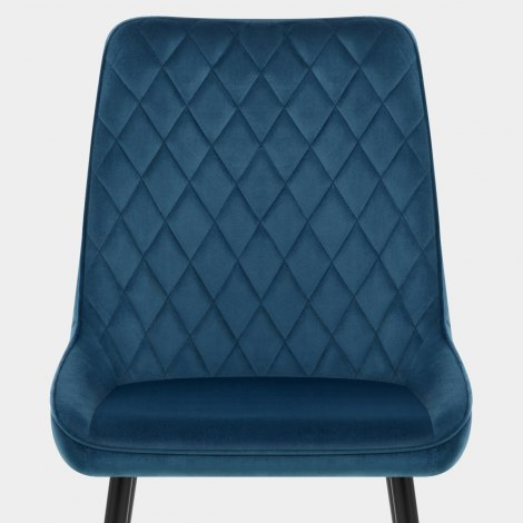 Chevy Dining Chair Blue Velvet Seat Image