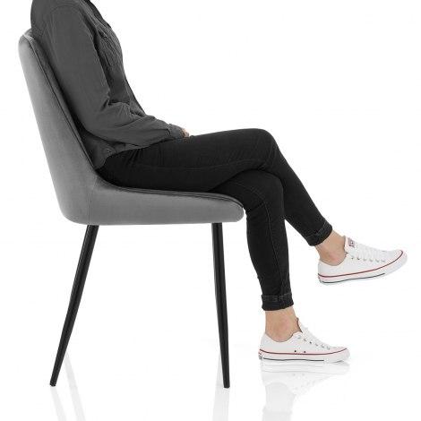 Chevy Dining Chair Grey Velvet Frame Image