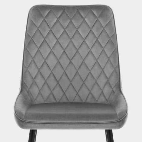 Chevy Dining Chair Grey Velvet Seat Image