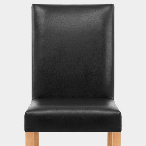 Chicago Oak Dining Chair in Black Seat Image