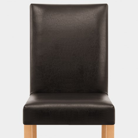 Chicago Oak Dining Chair in Brown Seat Image