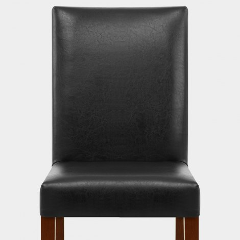 Chicago Walnut Dining Chair Black Seat Image