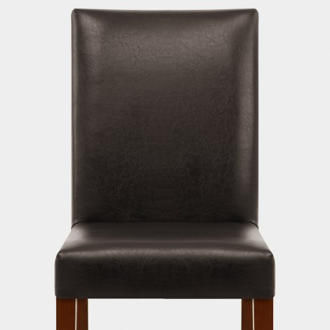 Chicago Walnut Dining Chair Brown Seat Image