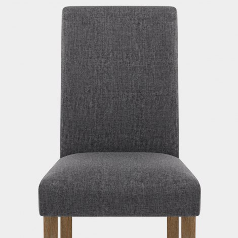 Chicago Oak Chair Charcoal Fabric Seat Image