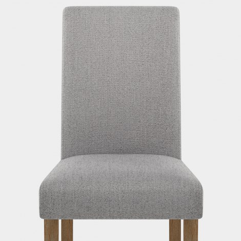 Chicago Oak Chair Grey Fabric Seat Image