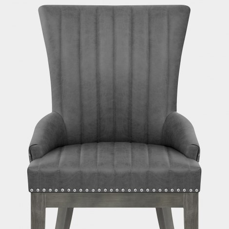 Chiltern Wooden Dining Chair Grey Seat Image