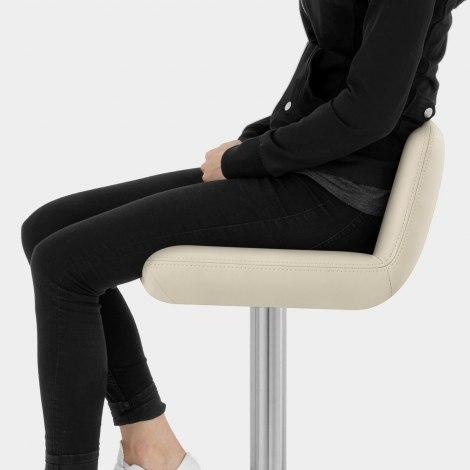 Christiana Brushed Stool Cream Seat Image