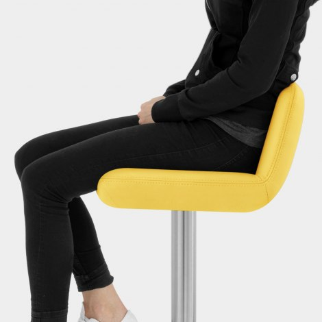 Christiana Brushed Stool Yellow Seat Image