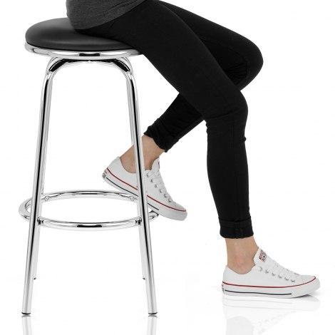 Chrome Stool Seat Image