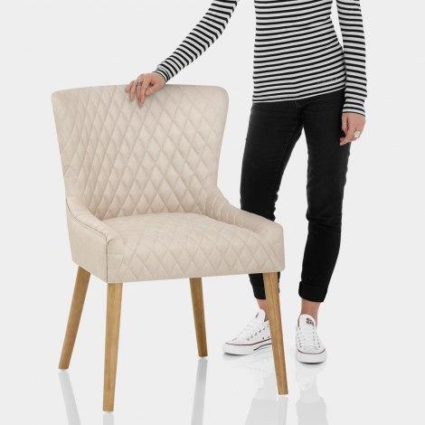 City Oak Chair Cream Features Image