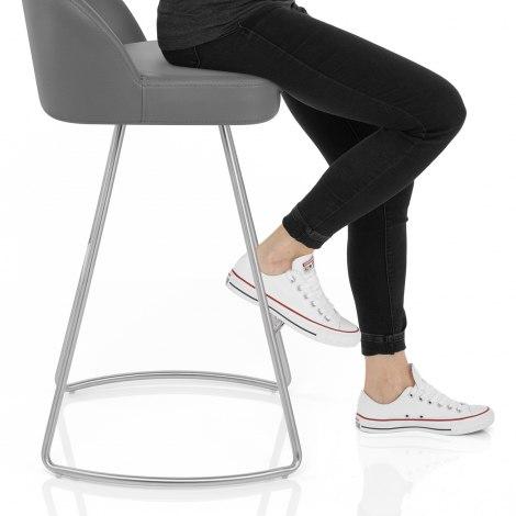 Cleo Brushed Bar Stool Seat Image