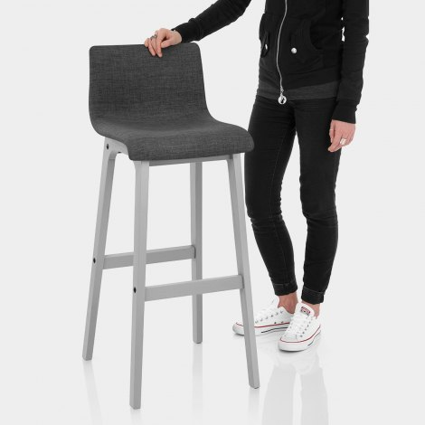 Coast Bar Stool Charcoal Fabric Features Image