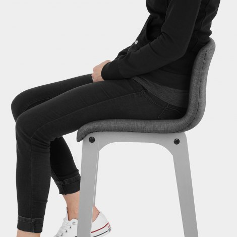 Coast Bar Stool Charcoal Fabric Seat Image