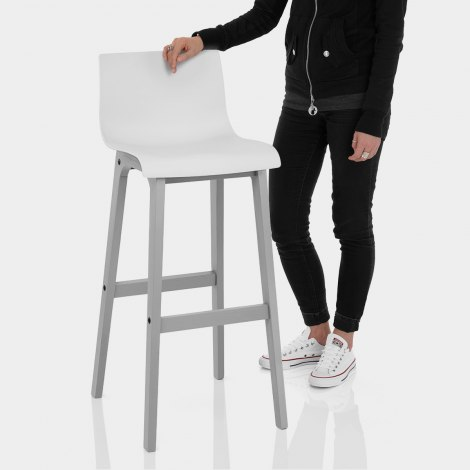 Coast Bar Stool White & Grey Features Image