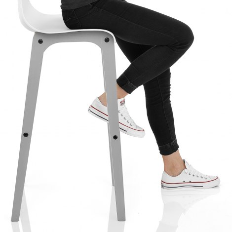Coast Bar Stool White & Grey Seat Image