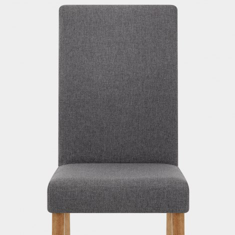 Columbus Oak Dining Chair Charcoal Seat Image