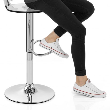 Comet Bar Stool Clear Seat Image