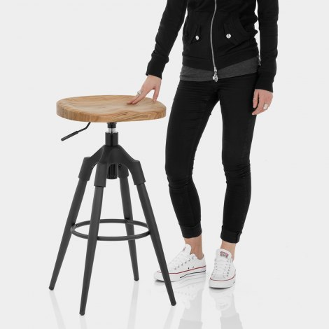 Compass Industrial Stool Features Image