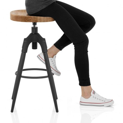 Compass Industrial Stool Seat Image