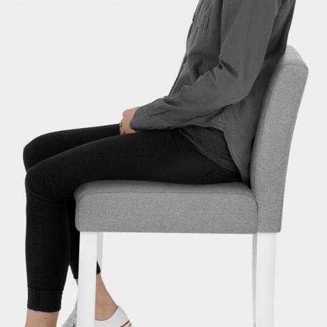 Crawford Bar Stool Grey Fabric Seat Image