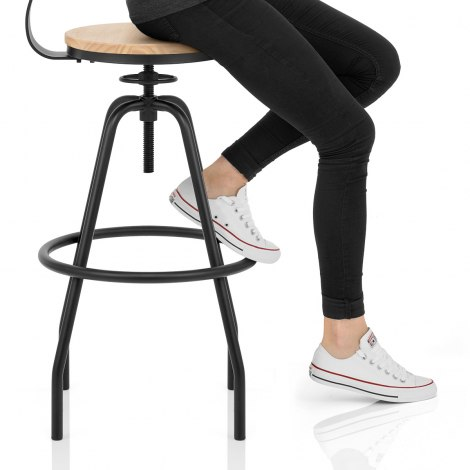 Creed Industrial Bar Stool Seat Image