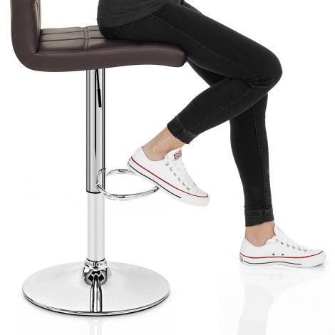 Criss Cross Bar Stool Brown Seat Image