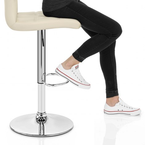 Criss Cross Bar Stool Cream Seat Image