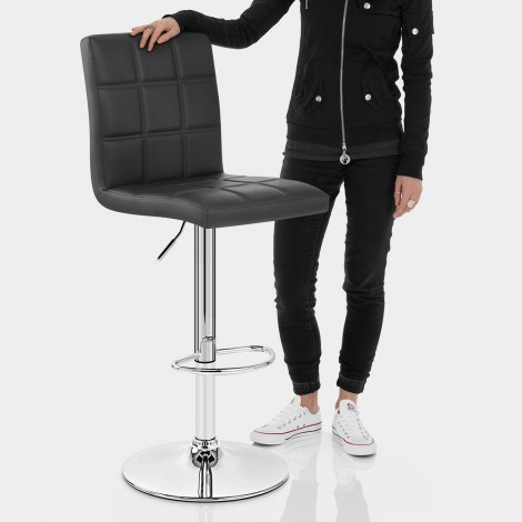 Criss Cross Bar Stool Black Features Image