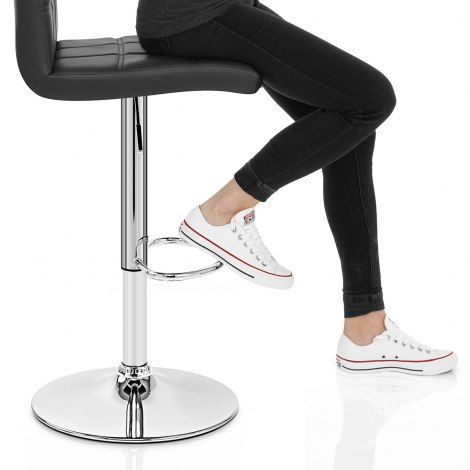 Criss Cross Bar Stool Black Seat Image