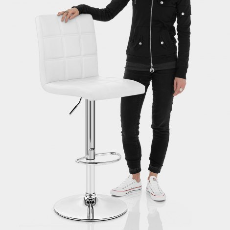 Criss Cross Bar Stool White Features Image