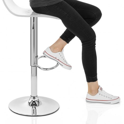 Crystal Bar Stool Clear Seat Image