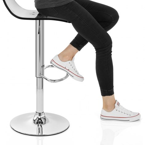 Crystal Bar Stool Smoked Frame Image